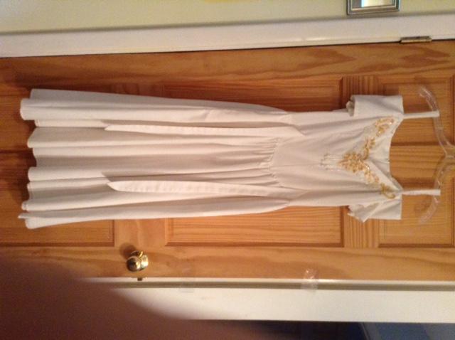 White ball gown